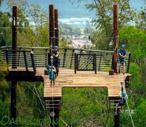 Dual Ziplines at North Shore Zipline