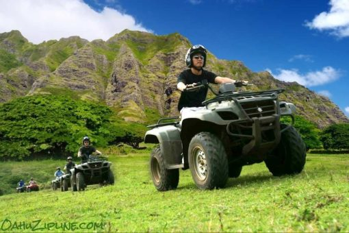 ATV with Kualoa Mountain Range