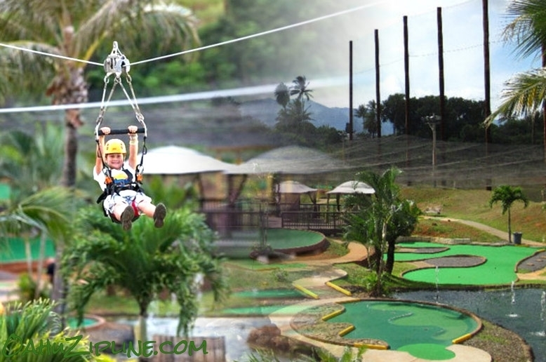 Bayview Zipline Over Putt