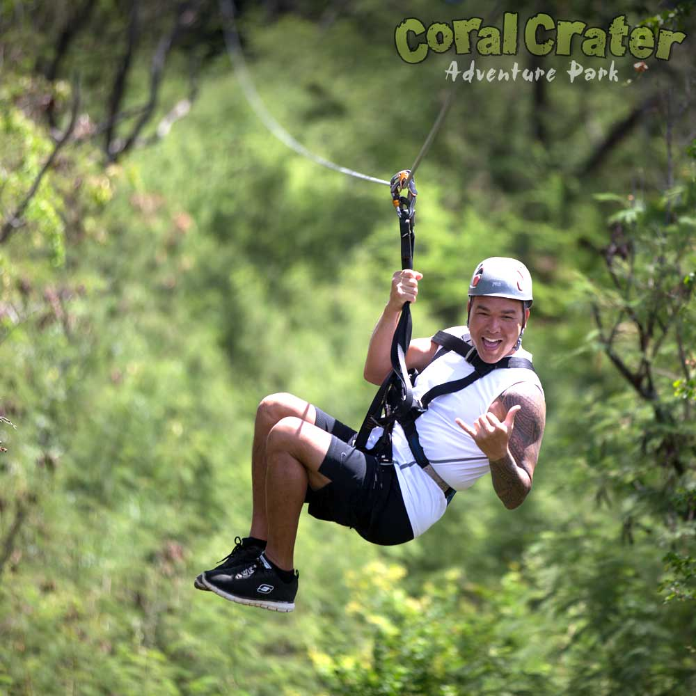 3 ziplines coral crater oahu zipline fun for all ages solutioingenieria Choice Image