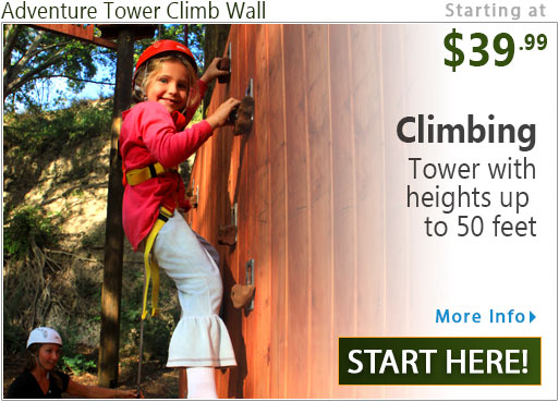 Coral Crater Adventure Tower Climb Wall