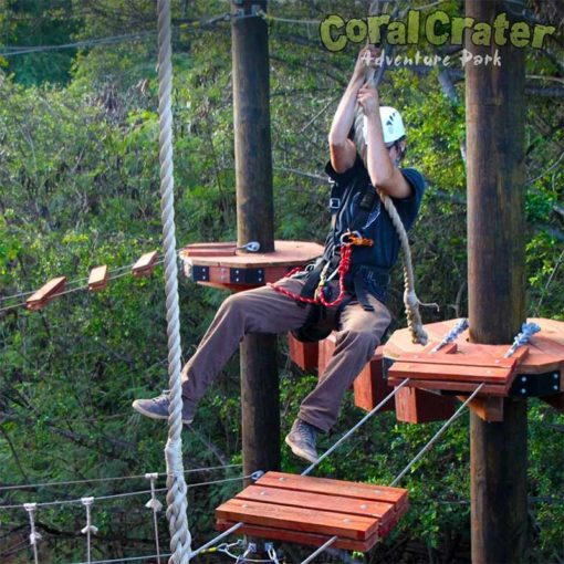 Just monkeying around on the Adventure Tower at Coral Crater