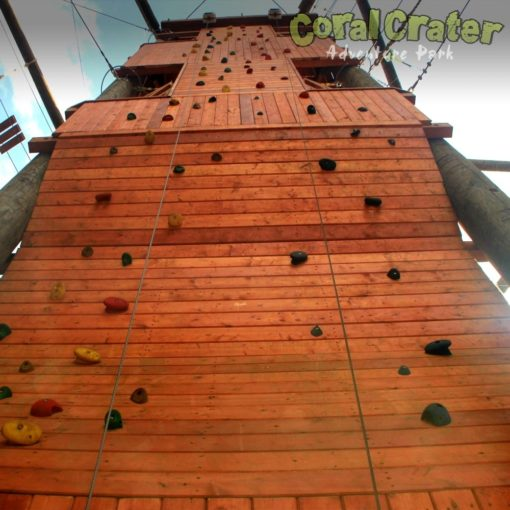 View of Climb Wall from Ground
