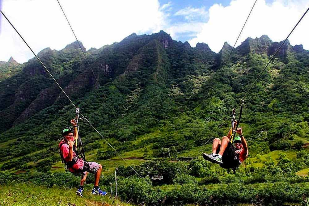 Zipline And Atv Adventure At Kualoa Ranch Oahu Zipline