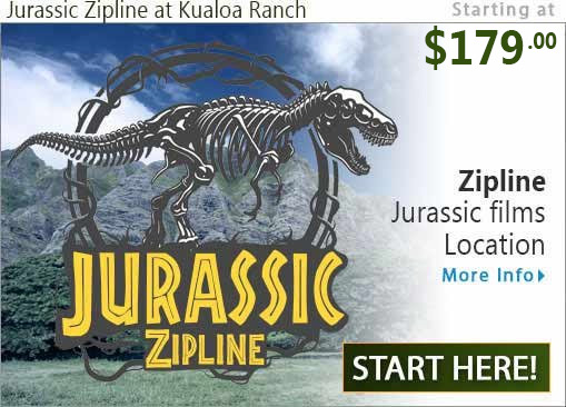 Jurassic Zipline at Kualoa Ranch