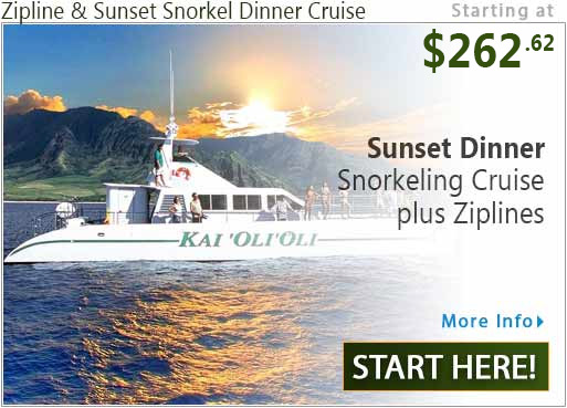 Zipline & Sunset Snorkel Dinner Cruise