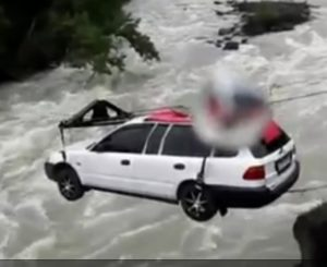 Unexpected uses for ziplines - zipping a car across a river