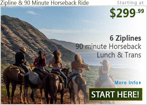 Zipline plus Oahu Horseback Ride
